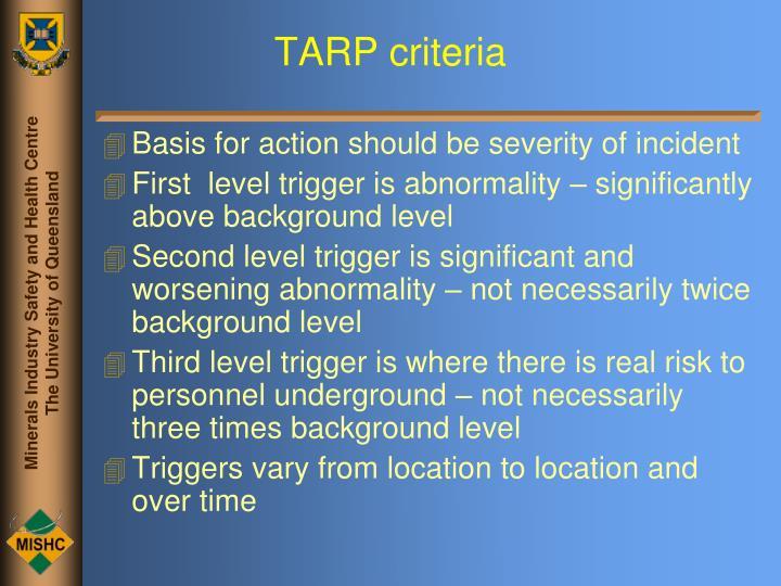 TARP criteria