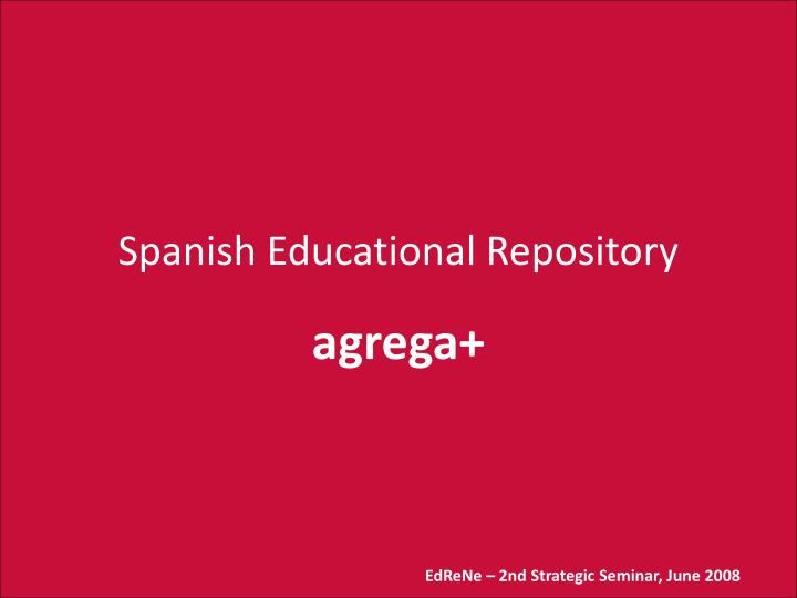 Spanish Educational Repository