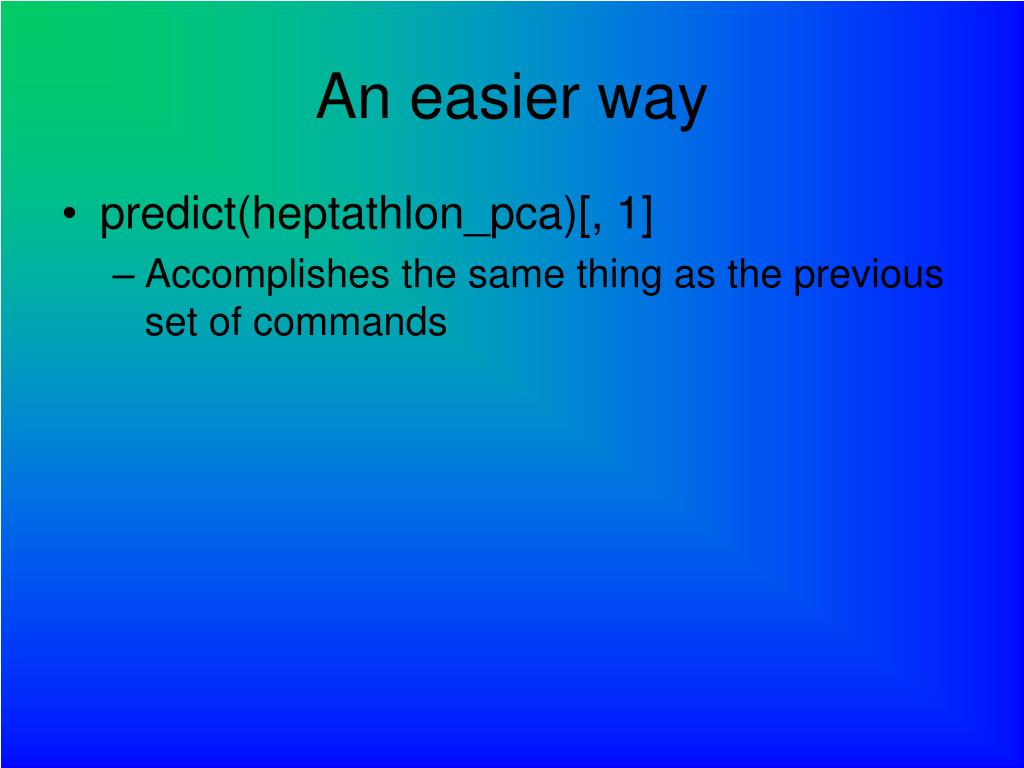 An easier way