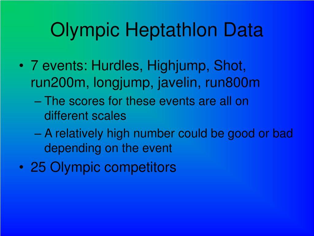 Olympic Heptathlon Data