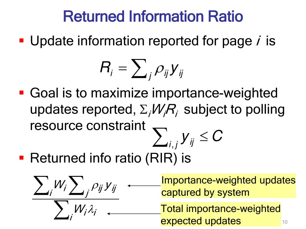 Returned Information Ratio