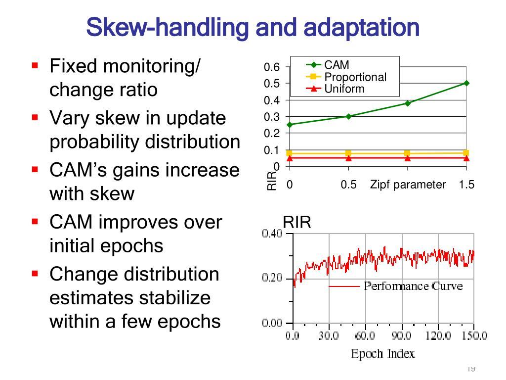 Skew-handling and adaptation