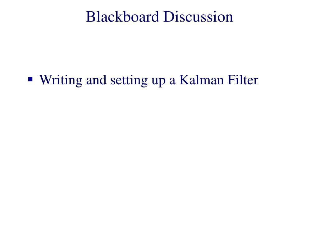 Blackboard Discussion