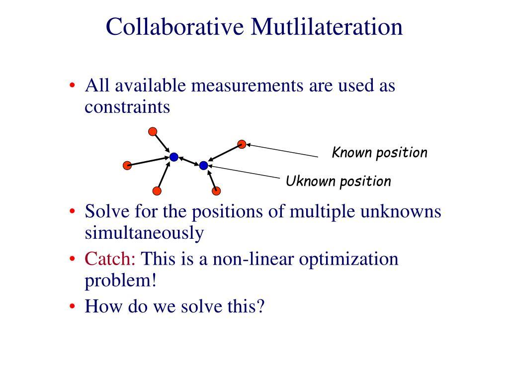 Collaborative Mutlilateration