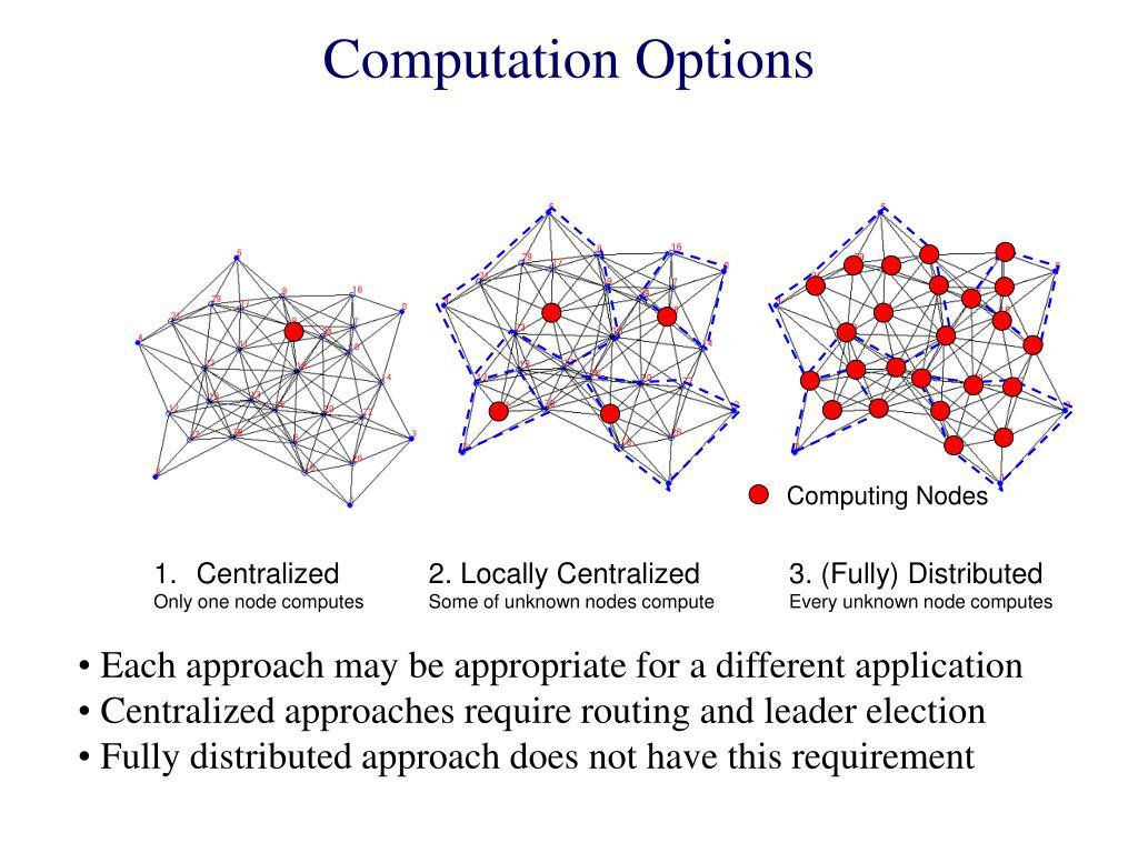Computation Options