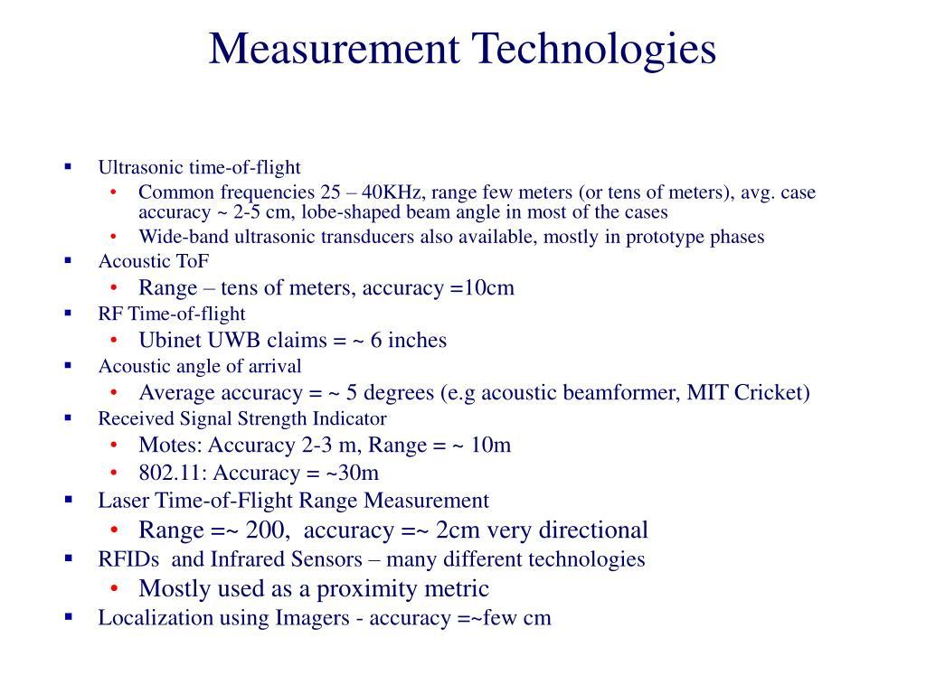 Measurement Technologies