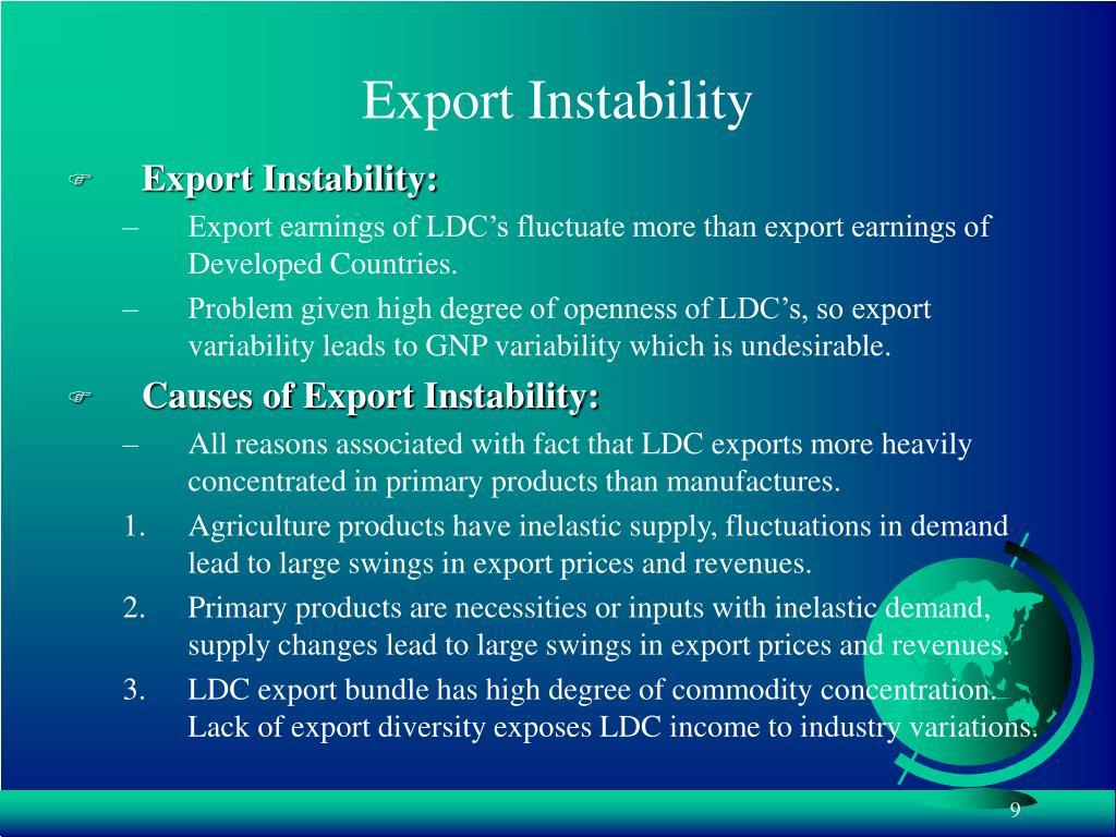 Export Instability
