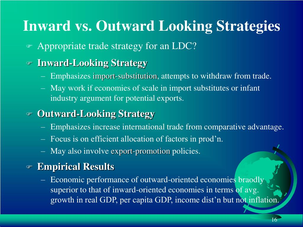 Inward vs. Outward Looking Strategies