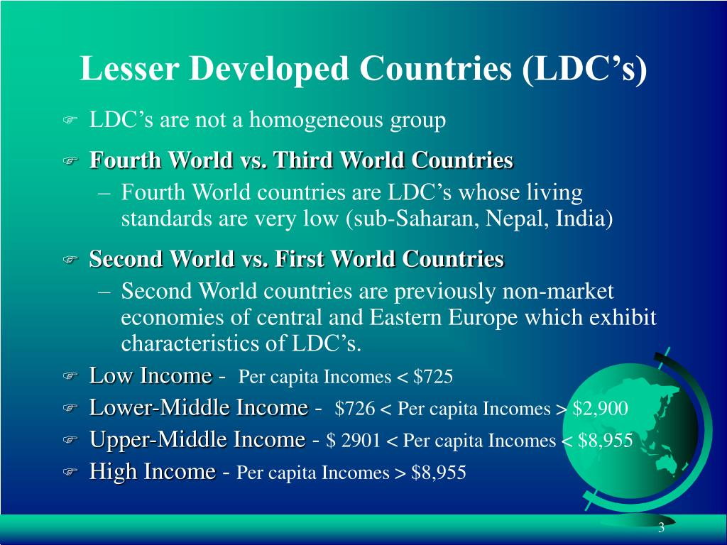 Lesser Developed Countries (LDC's)