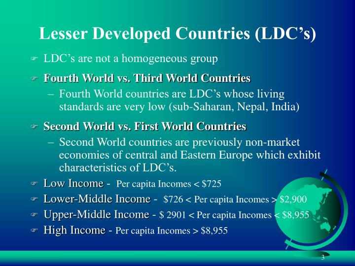 Lesser developed countries ldc s