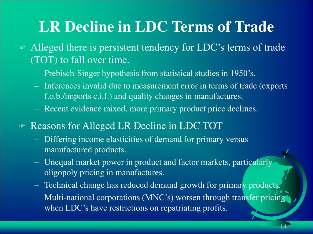 LR Decline in LDC Terms of Trade