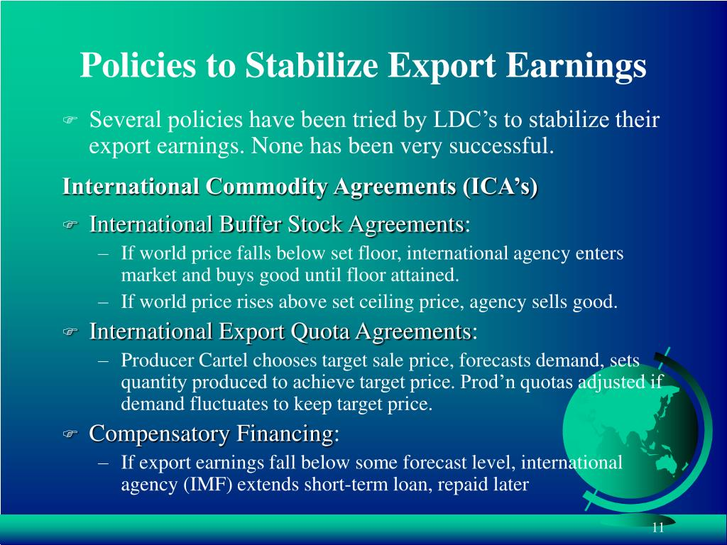 Policies to Stabilize Export Earnings