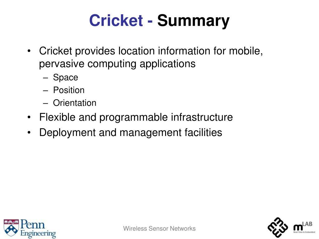 Cricket -