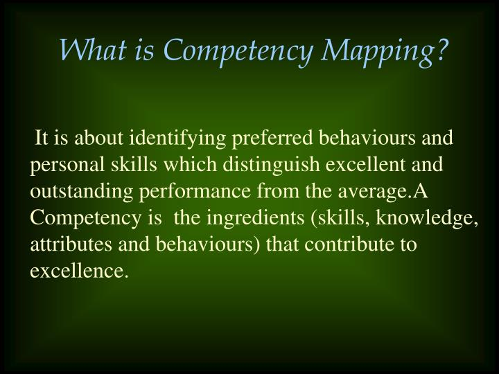 What is Competency Mapping?