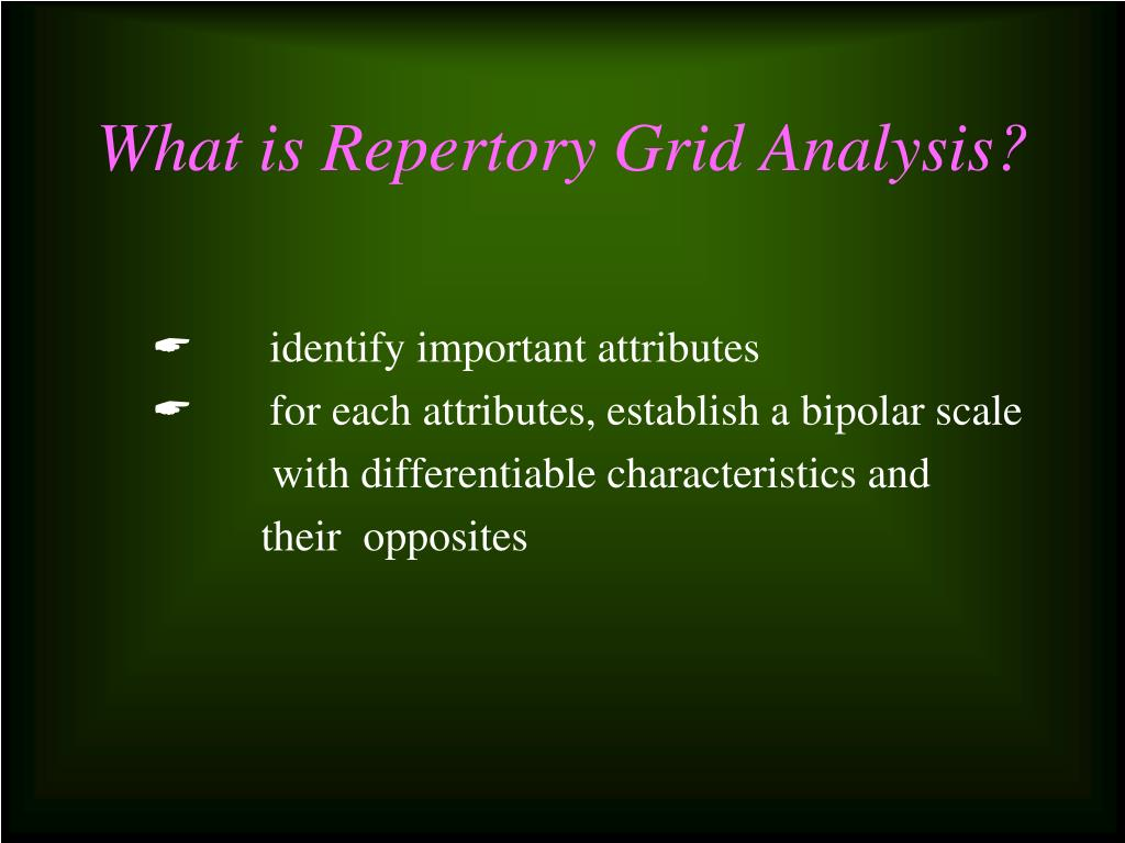 What is Repertory Grid Analysis?