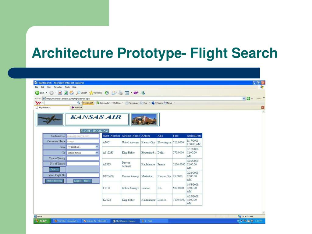 Architecture Prototype- Flight Search