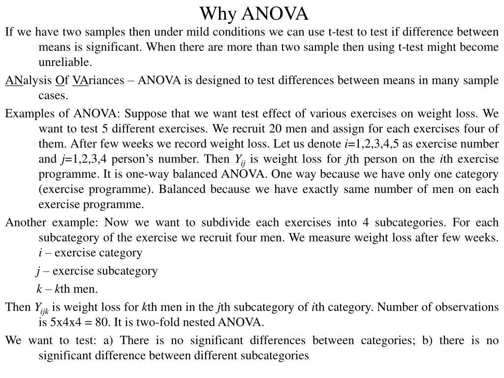 Why ANOVA