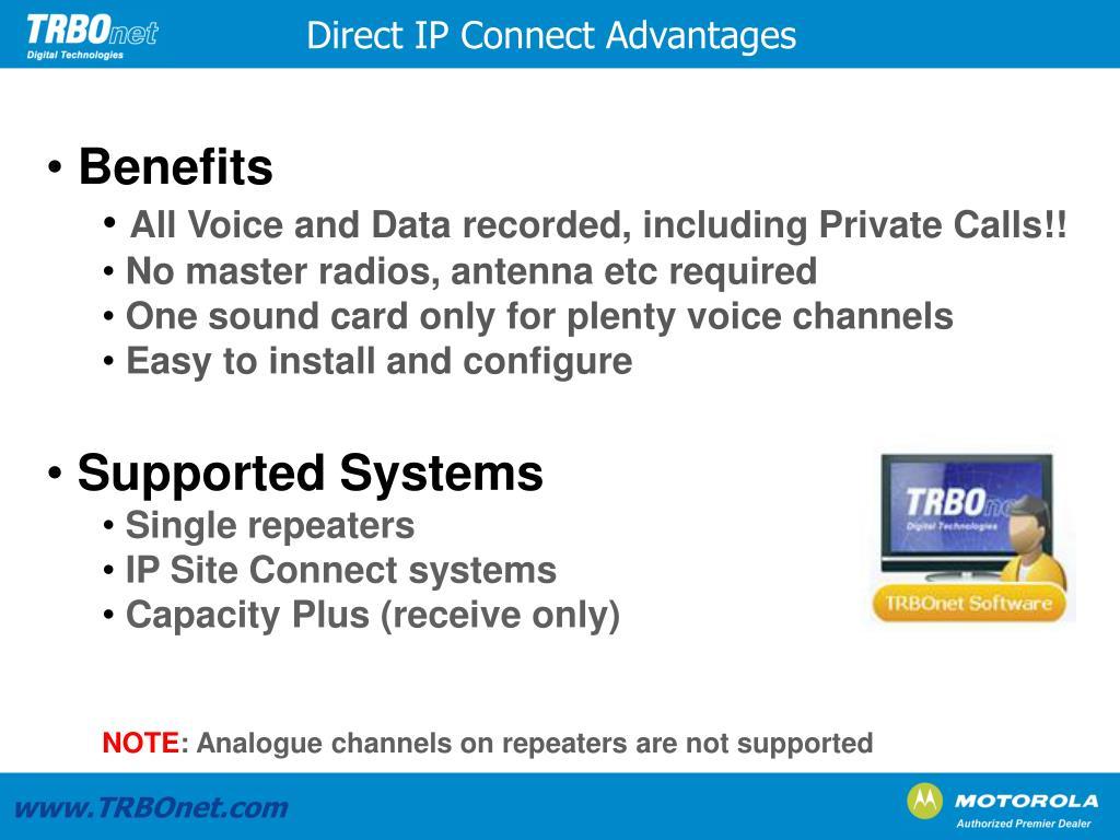 Direct IP Connect Advantages