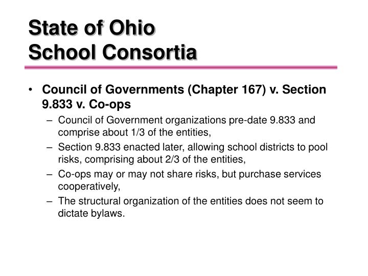 State of ohio school consortia