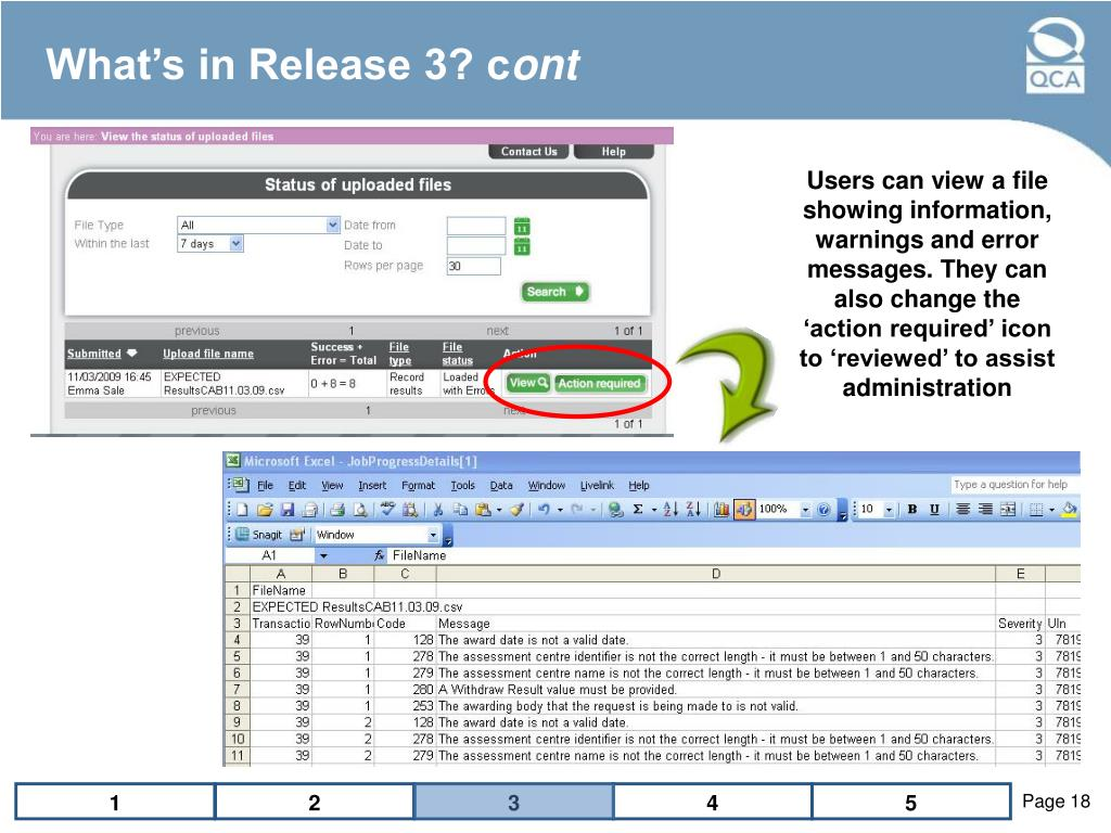 What's in Release 3? c