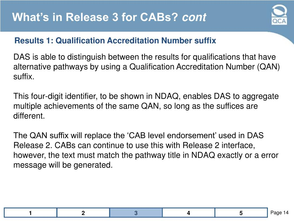 What's in Release 3 for CABs?