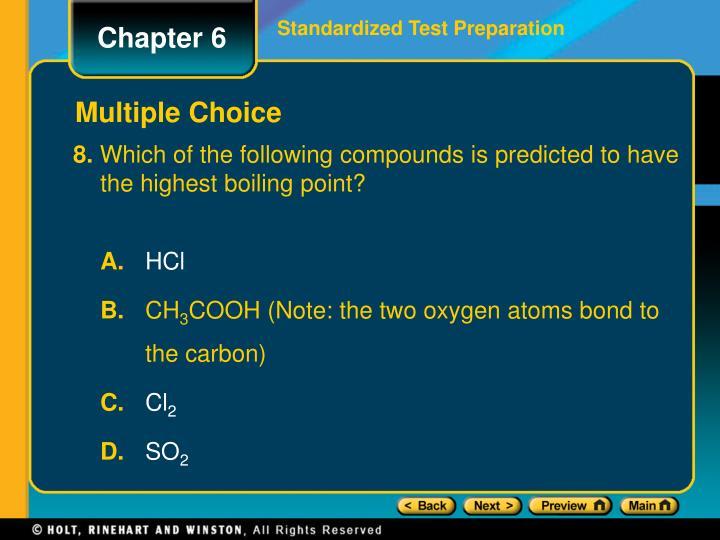 Standardized Test Preparation