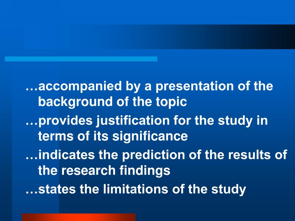 …accompanied by a presentation of the background of the topic