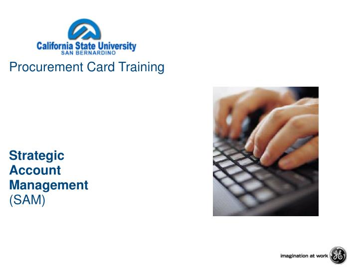 Procurement card training strategic account management sam