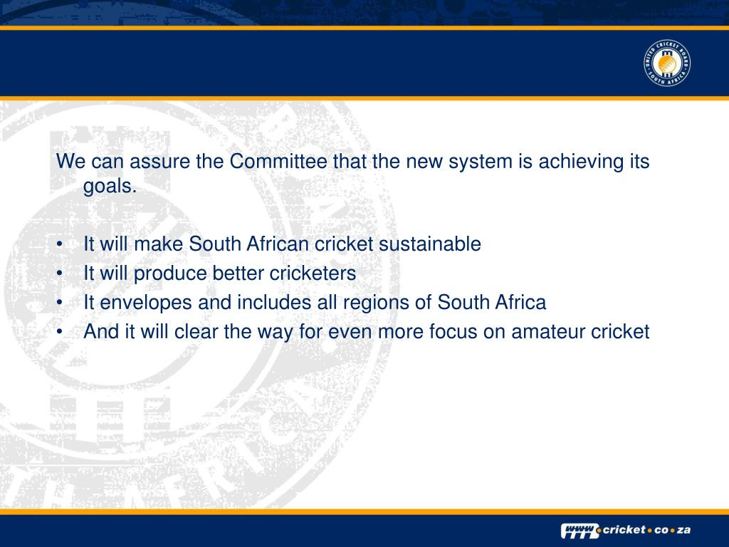 We can assure the Committee that the new system is achieving its goals.
