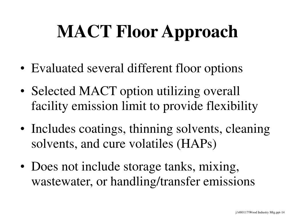 MACT Floor Approach