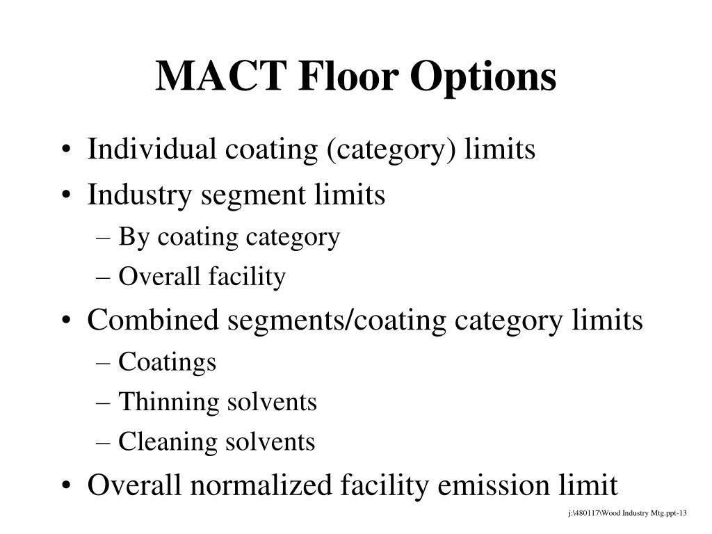 MACT Floor Options