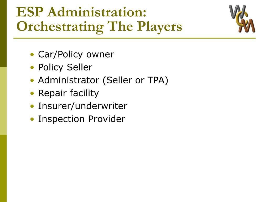 ESP Administration: