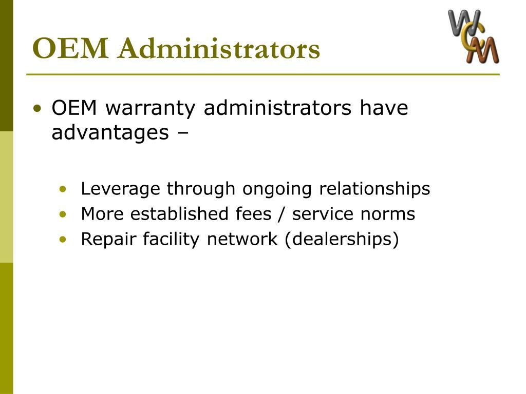 OEM Administrators