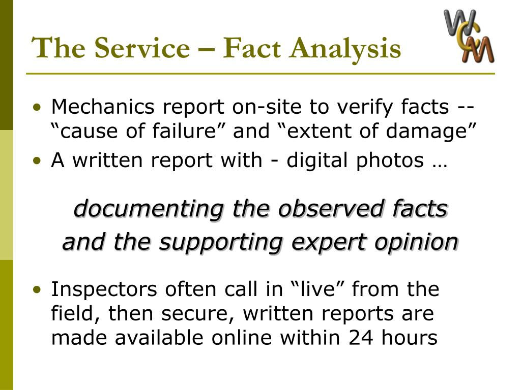 The Service – Fact Analysis