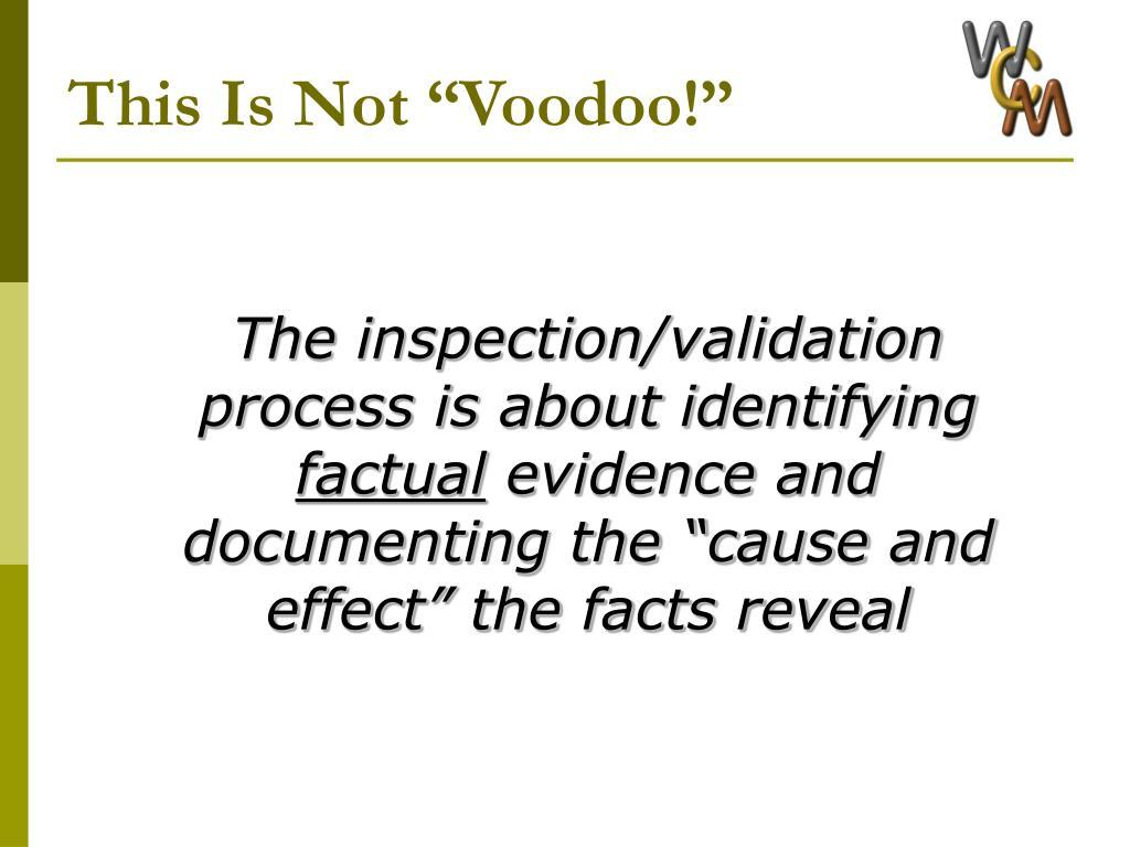 "This Is Not ""Voodoo!"""