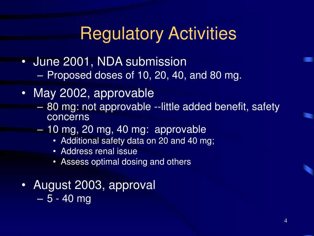 Regulatory Activities