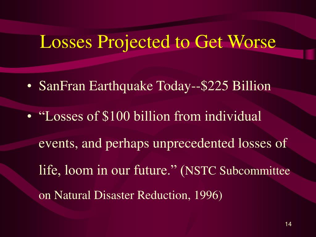 Losses Projected to Get Worse