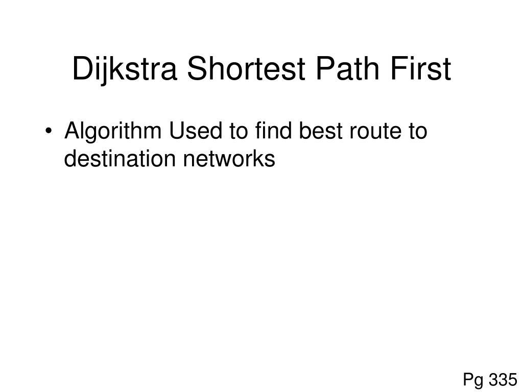 Dijkstra Shortest Path First