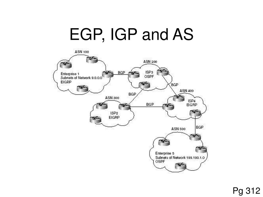 EGP, IGP and AS