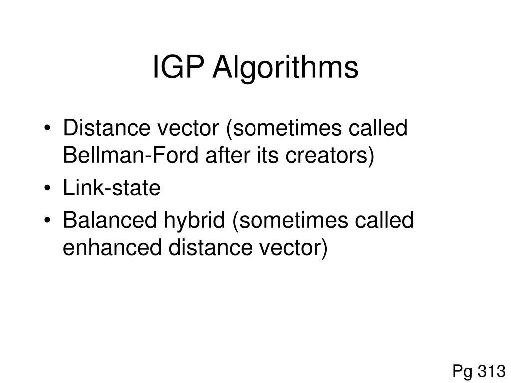 IGP Algorithms