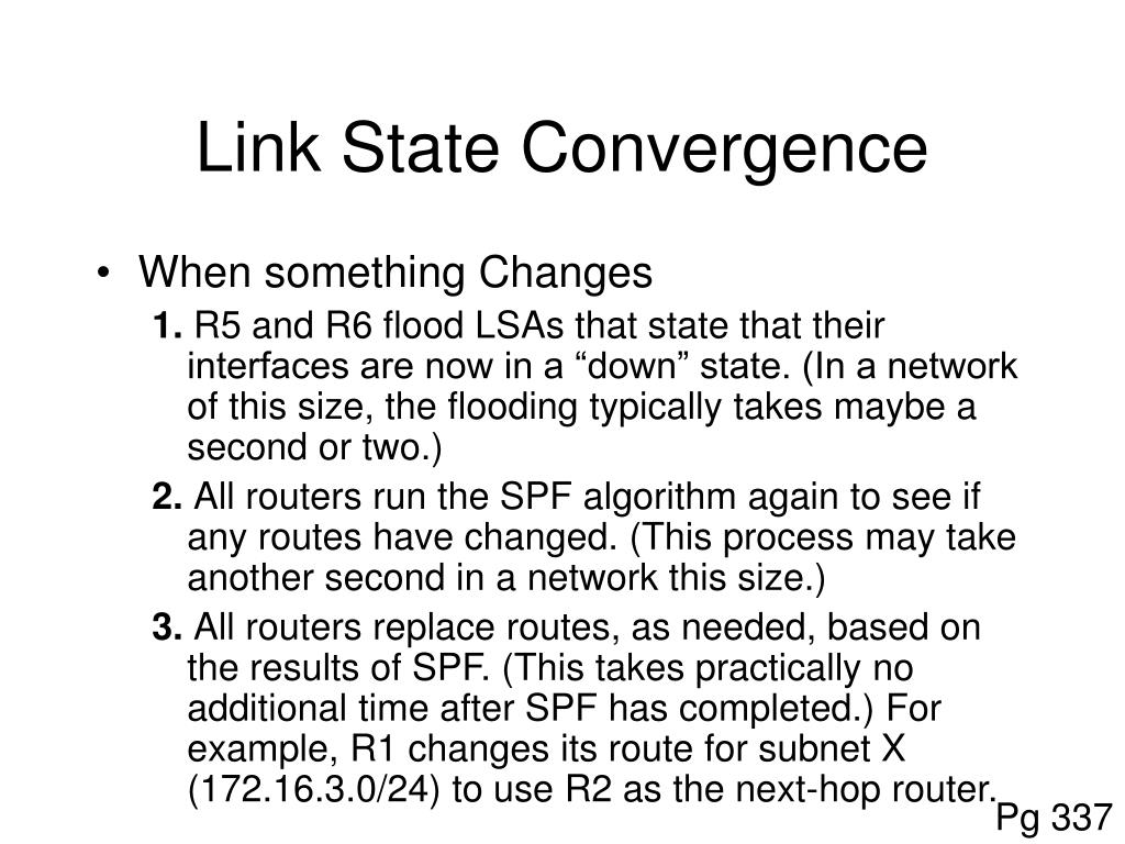 Link State Convergence