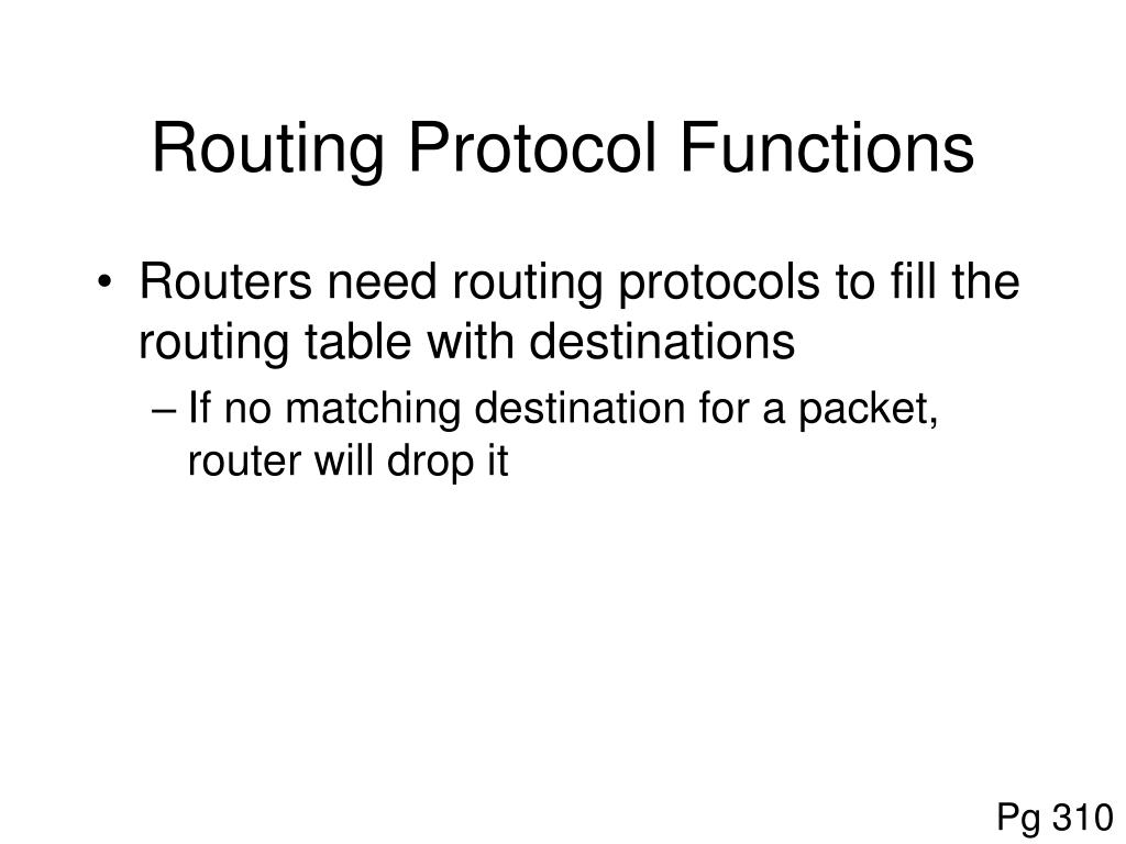 Routing Protocol Functions