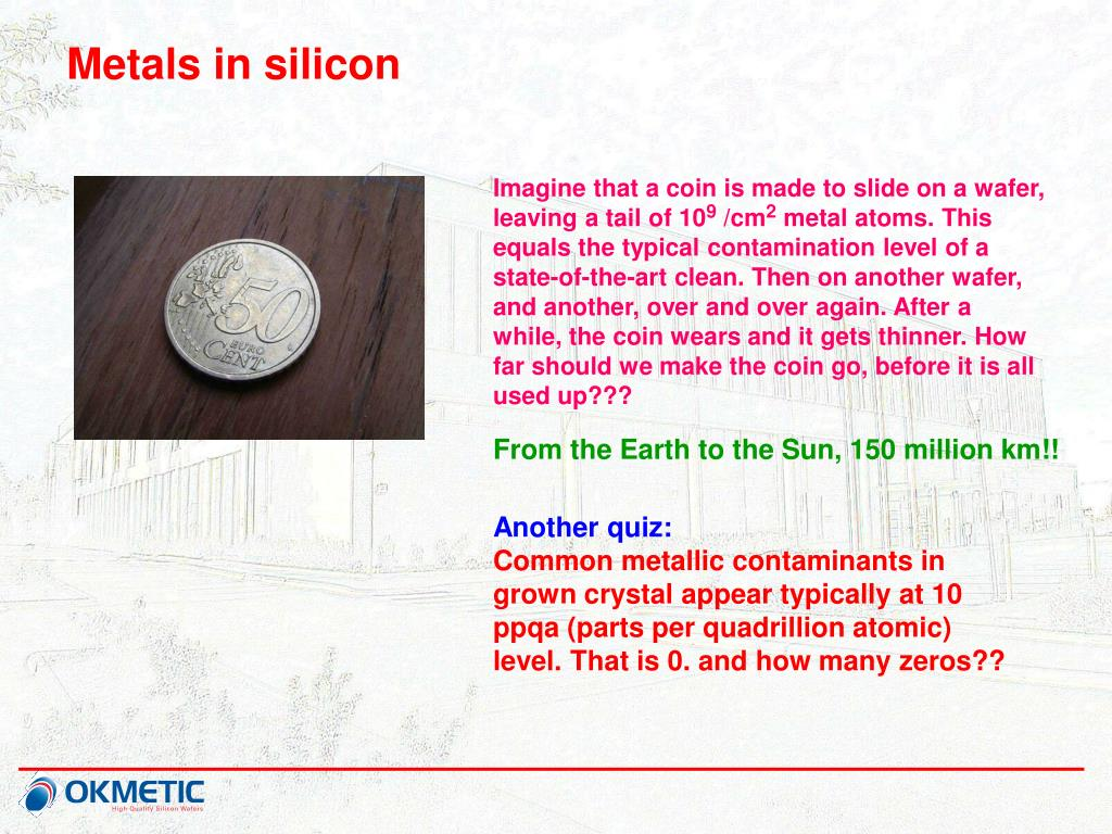 Metals in silicon