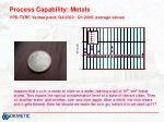 process capability metals vpd txrf vantaa plant q4 2000 q1 2005 average values12