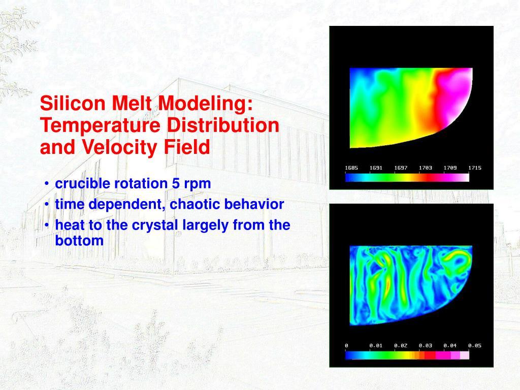 Silicon Melt Modeling: