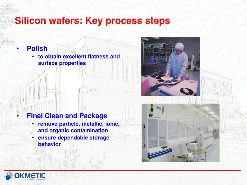Silicon wafers: Key process steps