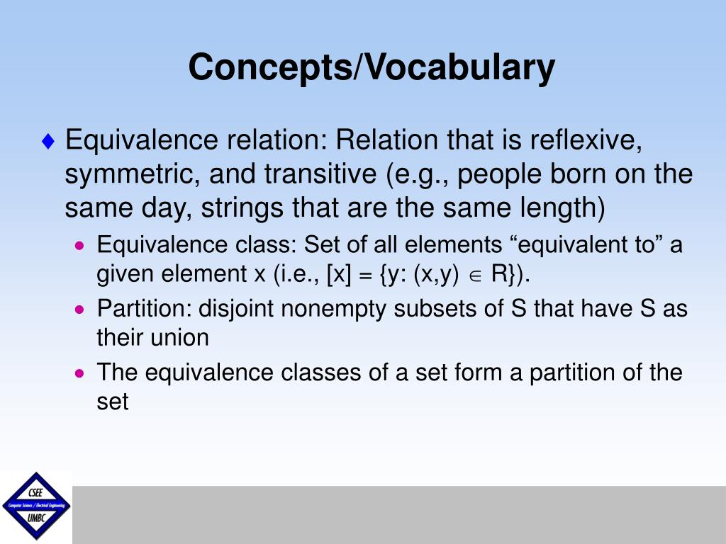 Concepts/Vocabulary