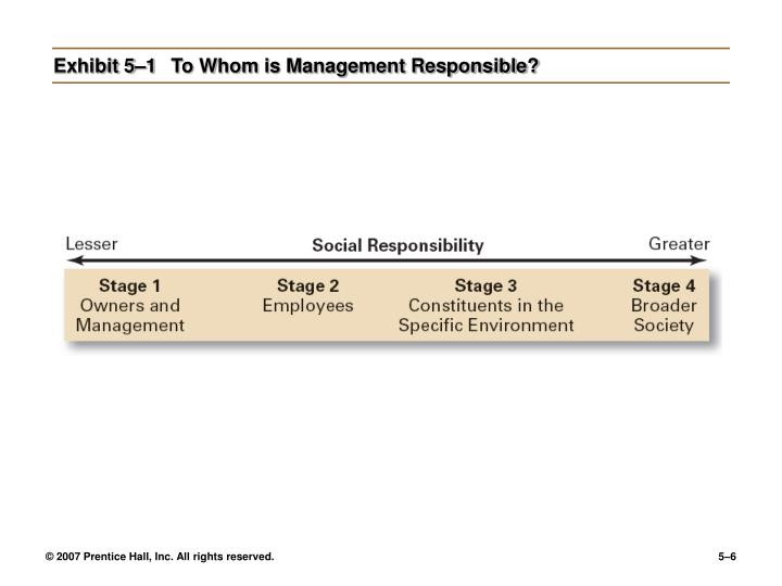 Exhibit 5–1	To Whom is Management Responsible?