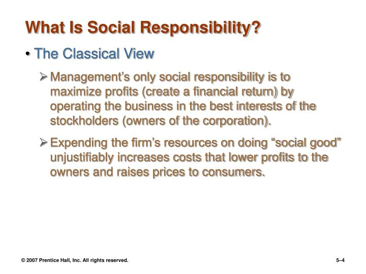 What Is Social Responsibility?