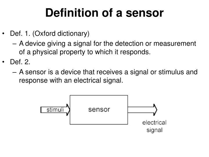Definition of a sensor